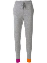 Chinti And Parker Flash Stripe Track Trousers Cashmere Wool Xs Grey