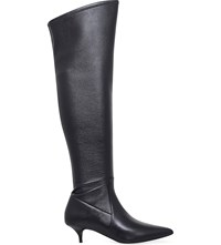 Michael Michael Kors Thigh High Leather Boots Black