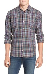 Culturata Tailored Fit Check Sport Shirt Charcoal