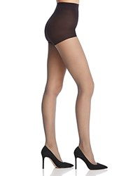 Hue Sheer Mini Diamond Control Top Tights Black