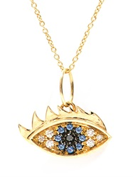 Delfina Delettrez Diamond Sapphire And Yellow Gold Necklace
