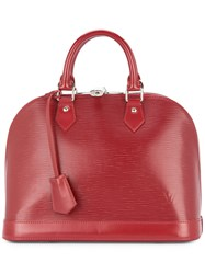 Louis Vuitton Vintage Alma Pm Tote Bag Red
