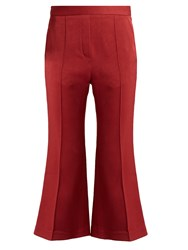 Ellery Bulgaria Flared Cady Trousers Dark Red