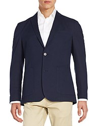 Vince Camuto Regular Fit Stretch Cotton Sportcoat Navy