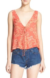 Women's Free People 'The Rose' Camisole Red Combo