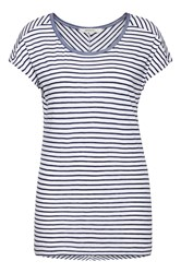 Sandwich Striped T Shirt White
