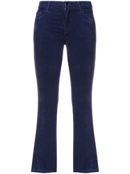 J Brand Slim Fit Cropped Jeans Blue