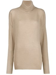 Aspesi Rollneck Knit Sweater Neutrals