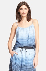 Vince Stripe Swing Camisole French Blue