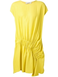 Viktor And Rolf Ruched Detail Dress Yellow And Orange