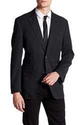 Kroon Charcoal Honeycomb Two Button Notch Lapel Jacket Black