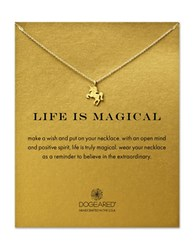 Dogeared 14K Goldplated Unicorn Pendant Necklace