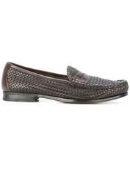 Tom Ford Interlaced Penny Loafers Brown