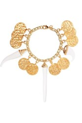 Kenneth Jay Lane Gold Plated And Resin Bracelet One Size