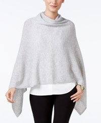 Charter Club Cashmere Poncho Only At Macy's Heather Crystal