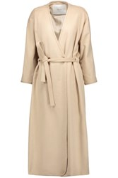 Adam By Adam Lippes Tie Waist Camel Hair Coat Beige