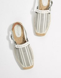 Free People Cabo Lasercut Leather Espadrille White