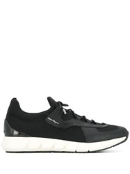 Salvatore Ferragamo Lace Up Low Sneakers Black