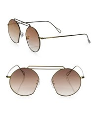 Kyme 49 Mm Modified Round Sunglasses Gold