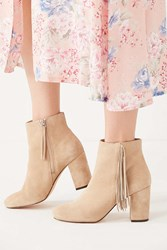 Urban Outfitters Sabrina Fringe Ankle Boot Tan