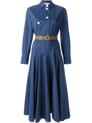Marni Classic Shirt Dress Blue