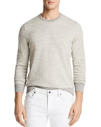 Bloomingdale's The Men's Store At Mini Stripe Crewneck Sweatshirt 100 Exclusive Oatmeal Navy