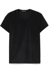 James Perse Stretch Velvet T Shirt Black