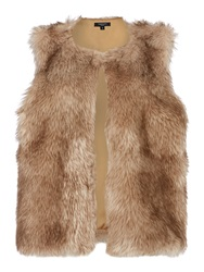 Therapy Faux Fur Gilet Brown
