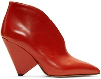 Isabel Marant Red Adenn Boots
