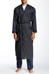 Majestic Long Sleeve Printed Robe Black
