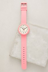 Anthropologie Electric Piglet Pink Watch