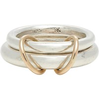 Spinelli Kilcollin Men's Sterling Silver And Rose Gold Virgo Ring Gold