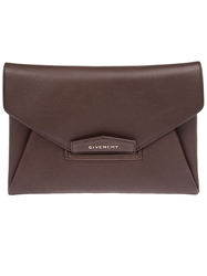 Givenchy 'Antigona' Envelope Clutch Brown