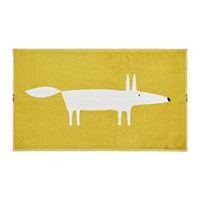 Scion Mr Fox Bath Mat Mustard