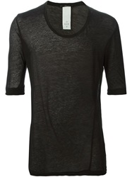 The Viridi Anne The Viridi Anne Three Quarter Sleeve T Shirt Black