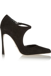 Sergio Rossi Suede Mary Jane Pumps Black