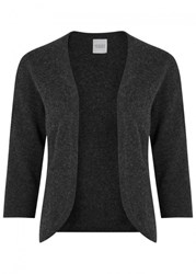 Madeleine Thompson Caraway Grey Cashmere Cardigan Charcoal