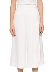 54f28e886 Ted Baker Pleat Insert Culottes White