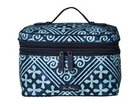 Vera Bradley Lighten Up Brush Up Cosmetic Case Cuban Tiles Cosmetic Case Blue