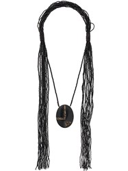 Max Mara Acume Beaded Necklace Black