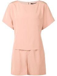 Tibi 'Cape' Playsuit Pink And Purple