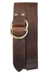 Frye Men's Harness Leather Belt Cognac