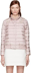 Moncler Gamme Rouge Pink Silk Quilted Down Jacket