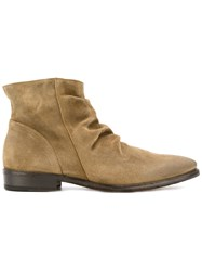Fiorentini Baker 'Dylan Dude' Boots Men Leather Suede 46 Nude Neutrals