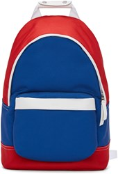 Ami Alexandre Mattiussi Blue And Red Colorblock Backpack