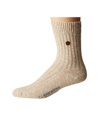 Birkenstock London Socks Beige Crew Cut Socks Shoes