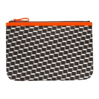 Pierre Hardy Orange Large Cube Pouch