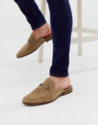 New Look Backless Loafer In Stone