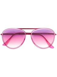 Retrosuperfuture Aviator Sunglasses Pink And Purple