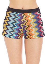 Missoni Mare Metallic Knit Shorts Black Multi